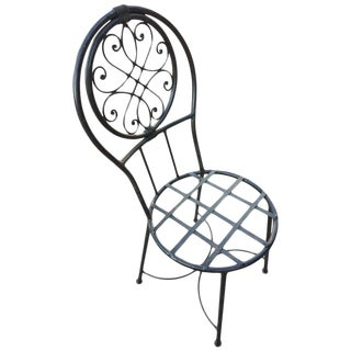 Moroccan Wrought Iron Chair For Sale