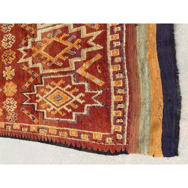 1960s Moroccan Vintage Hand-woven Marrakech Tribal Rug, circa 1960 For Sale - Image 5 of 13
