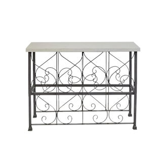 Iron Console With Marble Top For Sale