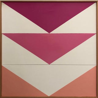 "Original Acrylic Painting ""Pink Arrow Triptych Jet0579"" For Sale"