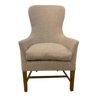 Restoration Hardware Linen Chair For Sale