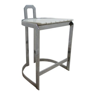Vintage Design Institute Chrome Counter Bar Stool For Sale