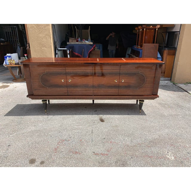 1940s 1940s Vintage French Macassar Ebony Sideboard For Sale - Image 5 of 13