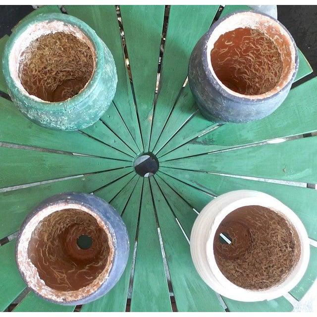 19th Century French Provence Terra-Cotta Hand Painted Pots - Set of 4 For Sale - Image 12 of 13