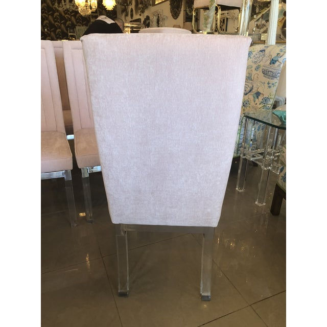 Charles Hollis Jones Lucite Dining Chairs - Set of 6 For Sale - Image 9 of 12