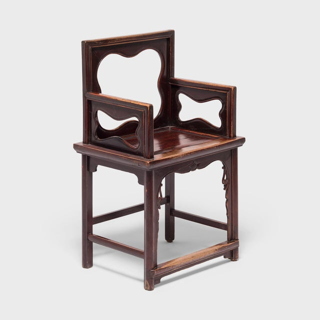 19th Century Chinese Rose Chairs - a Pair For Sale - Image 10 of 12