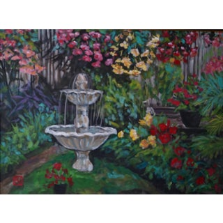 """Framed """"Begonia Gardens"""" Acrylic Painting For Sale"""