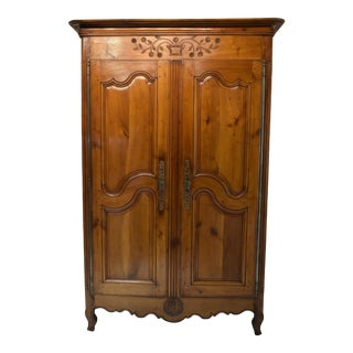 Early 19th-Century French Cherry Armoire For Sale