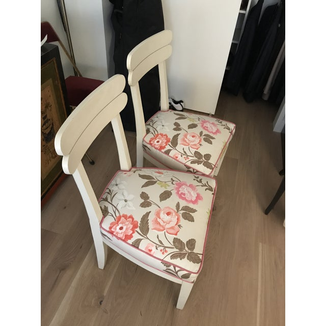 Floral Dining Room Chairs - Set of 4 - Image 6 of 7
