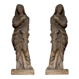 Set of English Plaster Figures For Sale