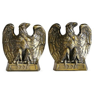 Vintage Brass Eagle Bookends