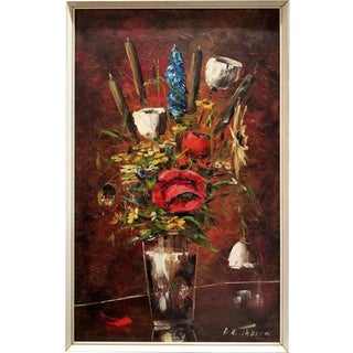 f.k. Thauer Floral Still Life Oil Painting For Sale