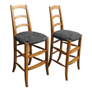 Minton Spidell French Country Black Bar Stools For Sale