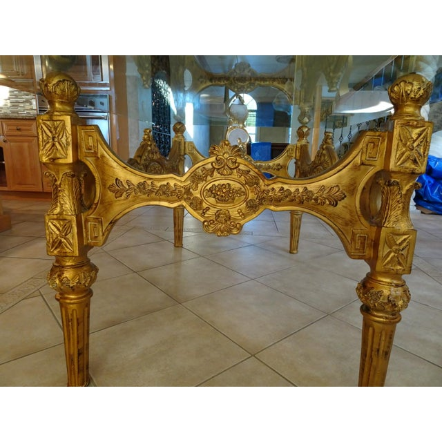 Ivory & Gold Italian Baroque Dining Set For Sale - Image 4 of 8
