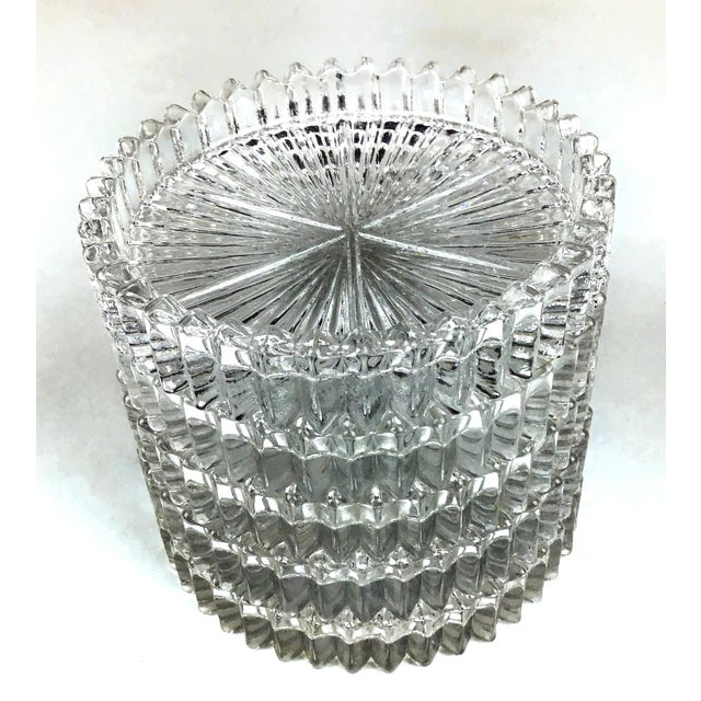 Transparent Mid Century Cut Glass Drink Coasters - Set of 5 For Sale - Image 8 of 8