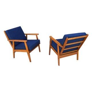 1960's MCM Danish Teak Lounge Chairs - Pair