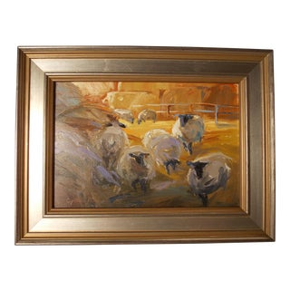 """Painting """"Study of Wool Gathering"""" by Cynthia Perryman For Sale"""