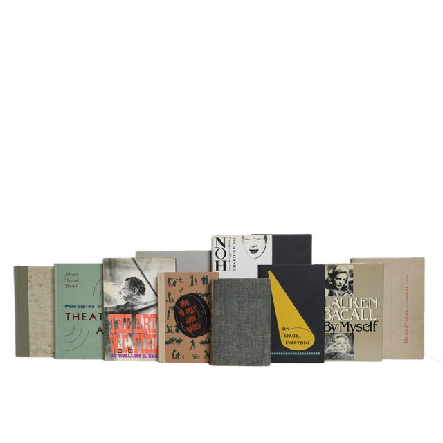 On Stage Book Set, S/18. Features a blend of eighteen authentic vintage and midcentury books published 1927-1979. Includes...
