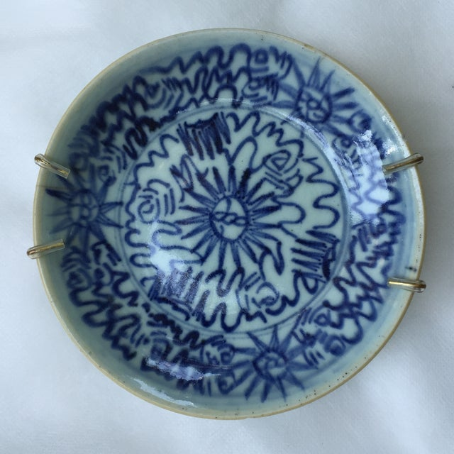 Antique Blue & White Plates, Flower Pattern - 4 - Image 4 of 11