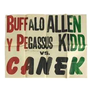 "Original Mexican Wrestling Poster ""Buffalo Allen"" For Sale"