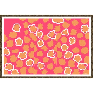 """Watermark in Coral"" By Dana Gibson, Framed Art Print For Sale"