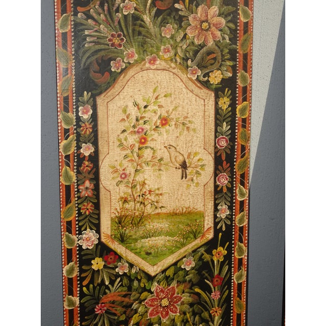 Vintage French Country Maitland Smith Style Wall Panels Floral Pictures For Sale In Los Angeles - Image 6 of 12