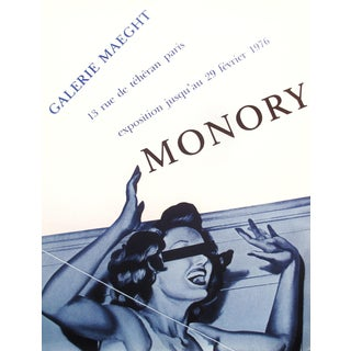 Jacques Monory Exhibition Poster, 1976