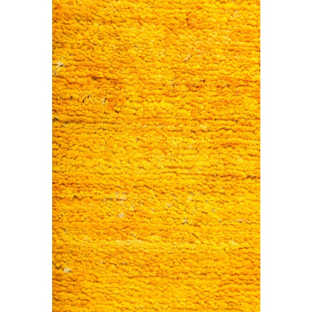 "New Hand-Knotted Overdyed Yellow Rug - 3'1"" X 5'3"" - Image 3 of 3"