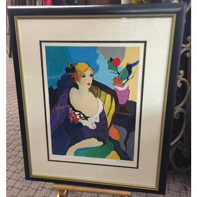 Lithograph Itzchac Tarkay Lithograph Signed Artist Proof For Sale - Image 7 of 7