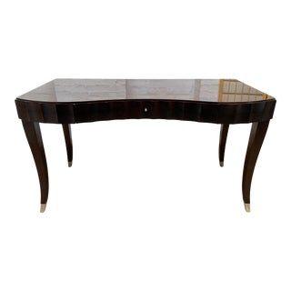Barbara Barry for Baker Furniture Co Mahogany Desk and Chair For Sale