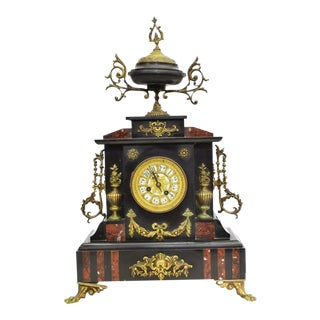 French Napoleon III Ormolu Mounted Mantel Clock For Sale