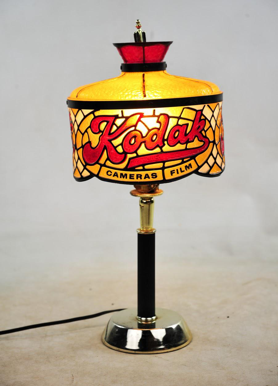 Kodak Simulated Stained Glass Table Lamp   Image 2 Of 7