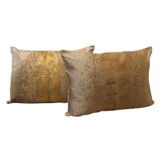 Golden Velvet Pillows - a Pair