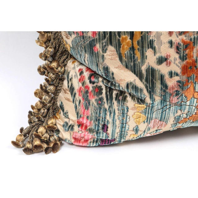 Traditional Traditional Silk Velvet Luigi Bevilacqua Pillows - a Pair For Sale - Image 3 of 9