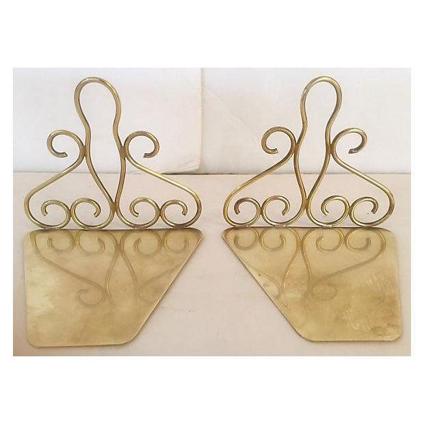 Tschappu Glarus Brass Bookends - a Pair - Image 5 of 7