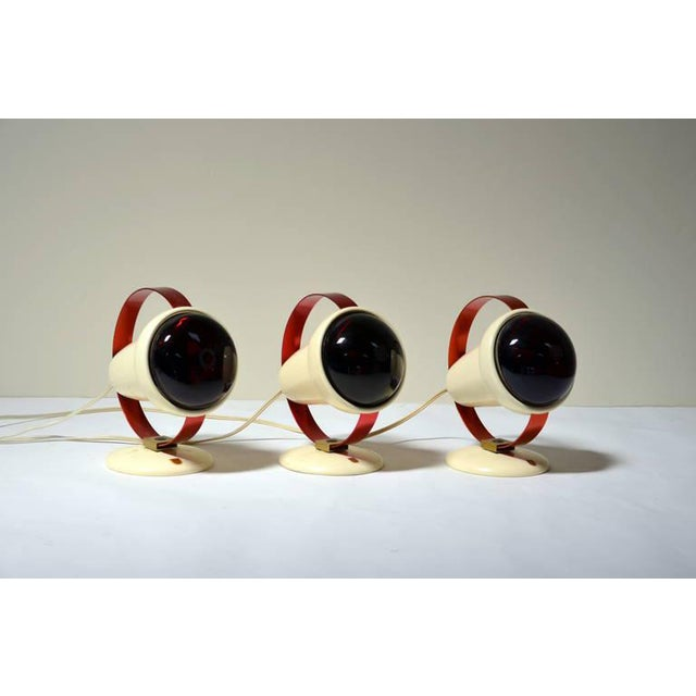 1950s Charlotte Perriand for Philips Infrared Wall Sconces - Set of 3 For Sale - Image 9 of 9