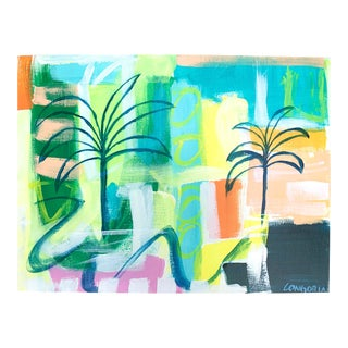 """Palms #4"" Abstract Painting by Christina Longoria For Sale"