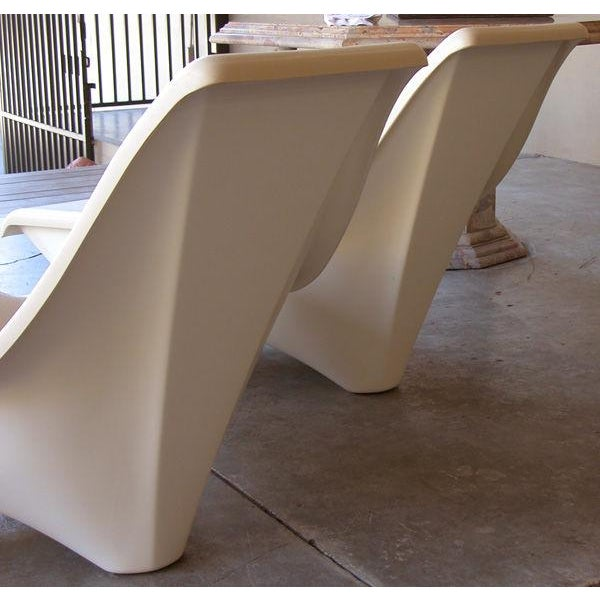 Modern A Sculpted Pair of American 1960's Fiberglass Lounge Chairs For Sale - Image 3 of 3