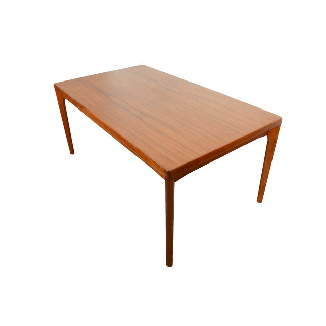 Danish Modern Large Teak Dining Table With 2 Dutch Leaves For Sale - Image 9 of 9