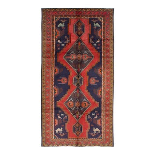 "Meshkin Vintage Persian Rug, 5'0"" x 9'11"" feet"