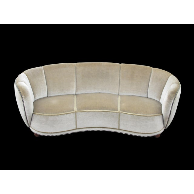Mid-Century Modern 1930's Scandinavian Deco Mohair Sofa For Sale - Image 3 of 13