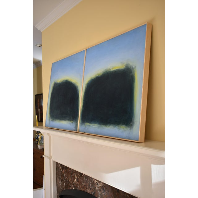 "Modern ""Touch, Summer Morning"" Abstract Diptych by Stephen Remick For Sale - Image 9 of 13"