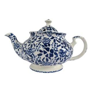 Duchess Cobalt Blue and White Chintz Porcelain Teapot P&k, Price and Kensington For Sale
