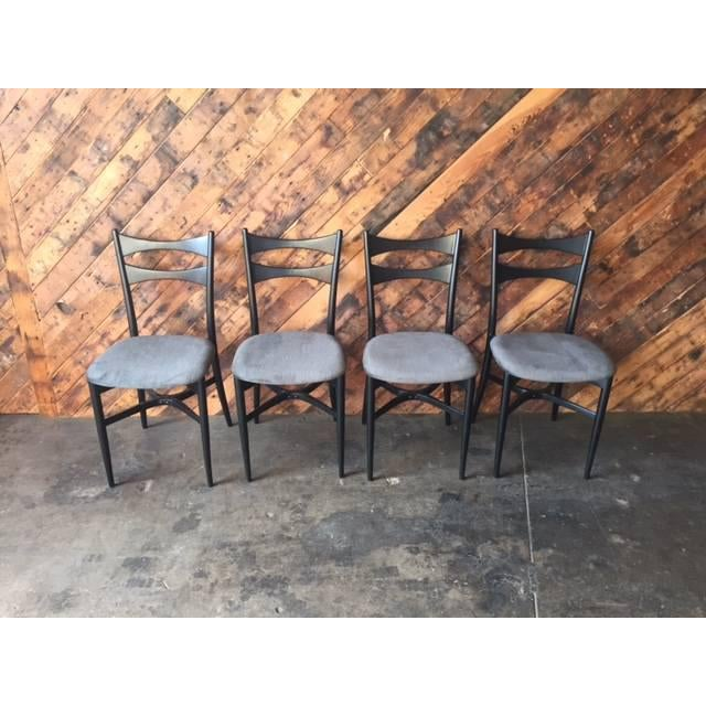 Mid-Century Gio Ponti Style Ladder Back Chairs - Set of 4 - Image 3 of 6