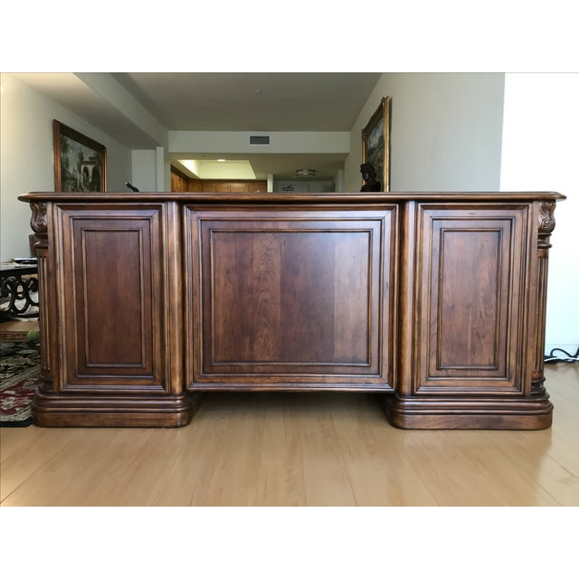 French Villa Florence Executive Computer Desk by Hooker Furniture For Sale - Image 3 of 7