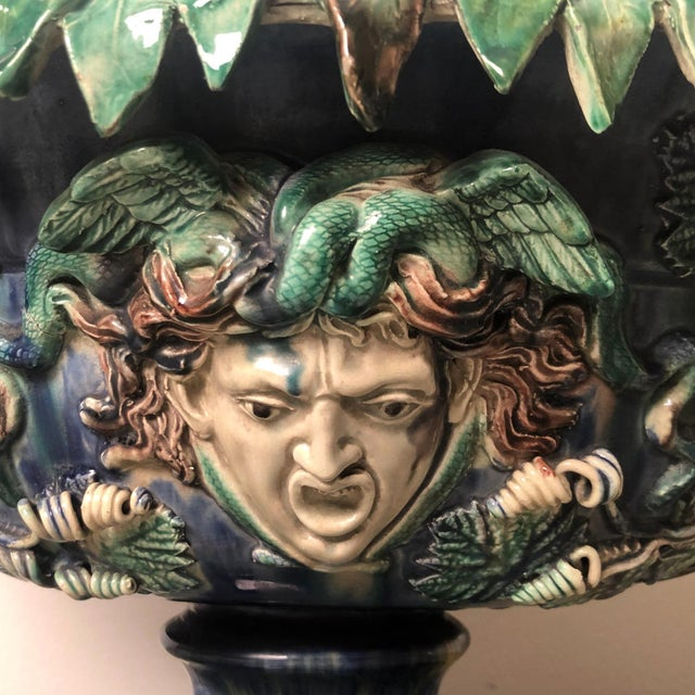 Ceramic Late 19th Century French Majolica Center Bowl For Sale - Image 7 of 12