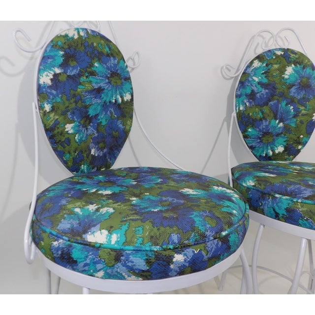 Mid-Century Modern Wrought Iron Patio Chairs - A Pair - Image 10 of 10