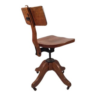 Oak Desk Chair c. 1930 For Sale