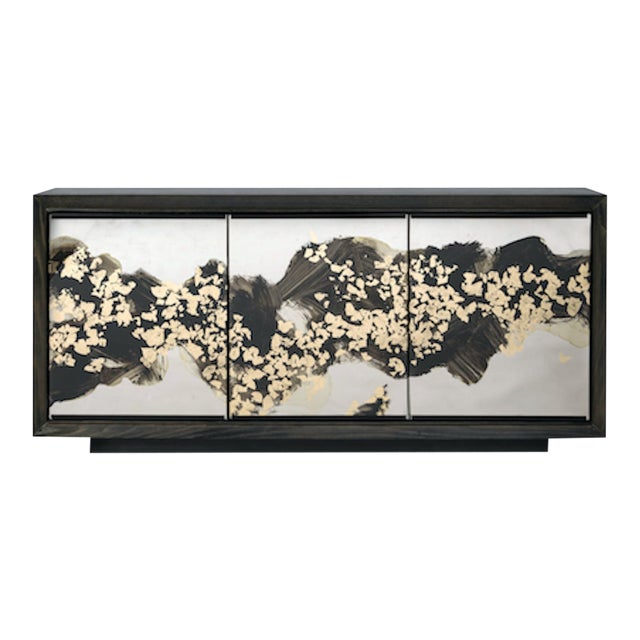The Faubourg Cabinet by Studio Van Den Akker With Glass Doors by Artist Emma Peascod For Sale