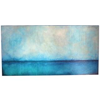Majestic Sea, Aqua Blue. 2018 Oil Fresco on Panel by C. Damien Fox